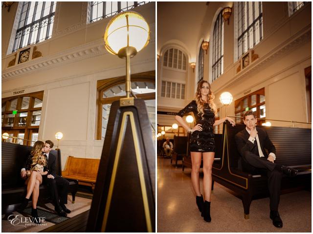 Denver Union Station Engagement Photos