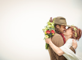 hippie boulder wedding
