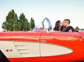 classic corvette engagement shoot