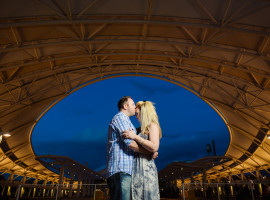 Union station denver engagement photos