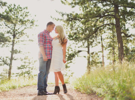 boettcher mansion engagement photos at sunset