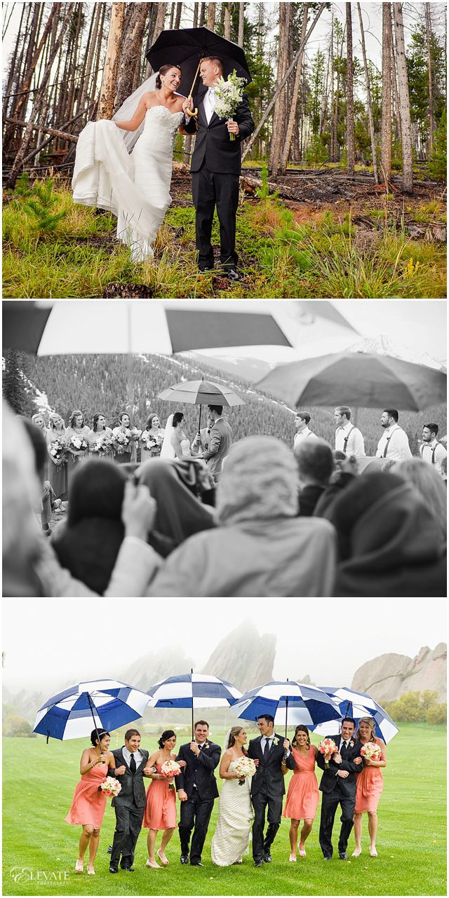 planning for rain on your wedding day