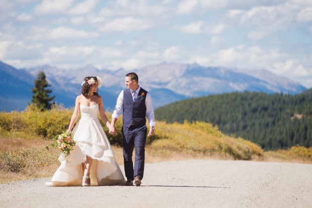 Lodge at Breckenridge Fall Colors Wedding Photos