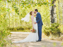 Granby Ranch Wedding Photos in Fall colors