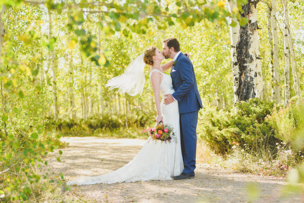 Granby Ranch Wedding Photos in Fall colors