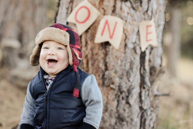 Lumberjack Themed Baby Photos