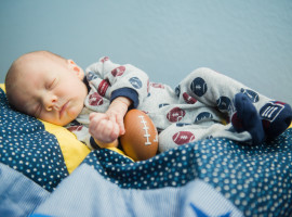 Football themed Newborn Photos