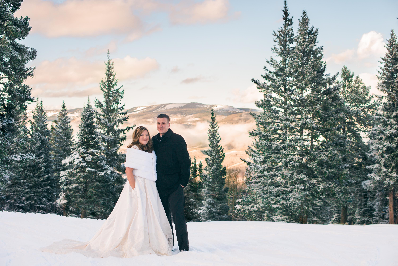Steven Julie Hyatt Beaver Creek Winter Wedding Photos