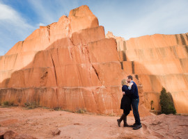 Red rock canyon open space park engagement photos