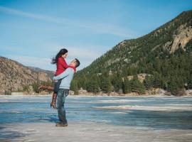 georgetown lake engagement photos