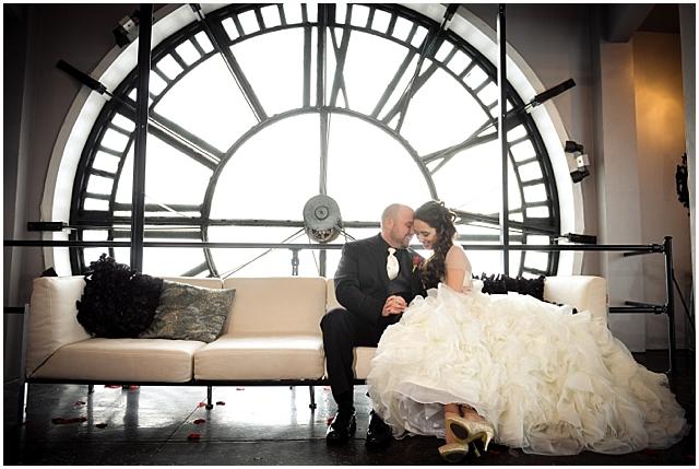 denver clocktower wedding picture