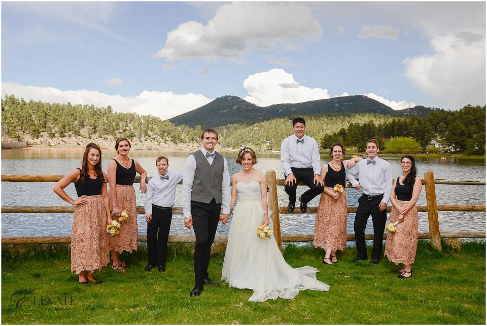 Evergreen lake colorado wedding