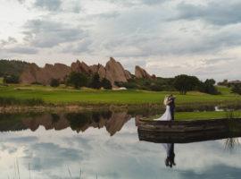 Arrowhead golf course tent wedding photos