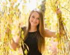 denver botanic gardens senior photos