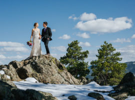 Wedding Couple on Genesee Mountain