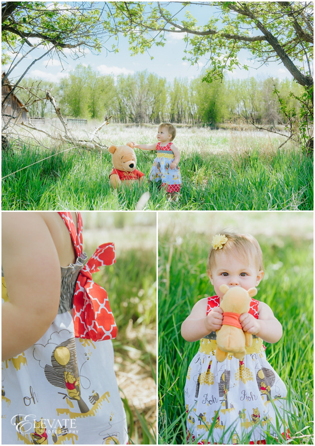 Adaline Is One Winnie The Pooh Themed One Year Old