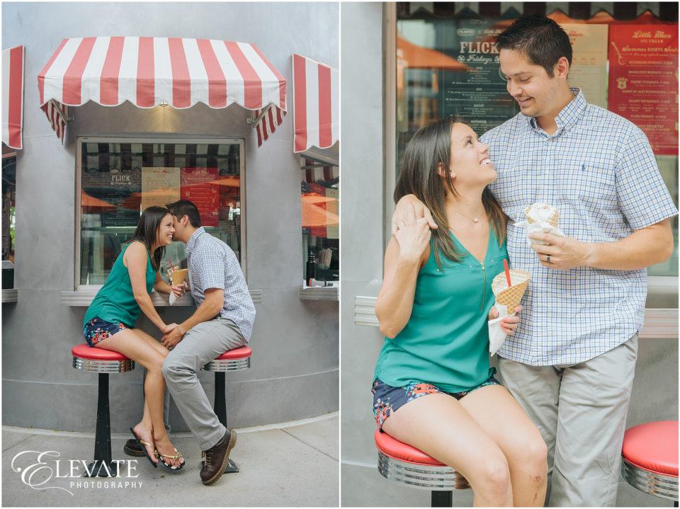 Little Man Ice Cream Couple Photo