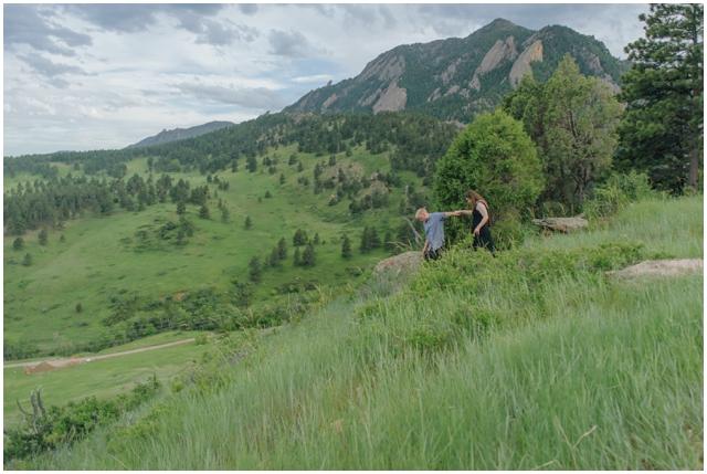 boulder engagement mountain