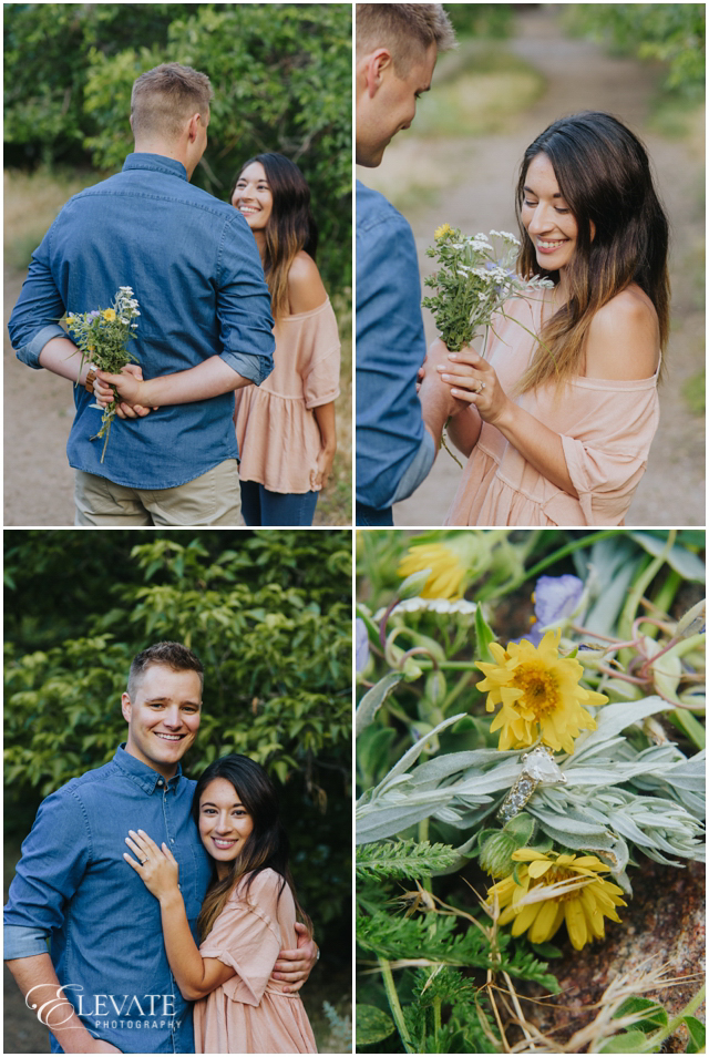 wildflowers engagement