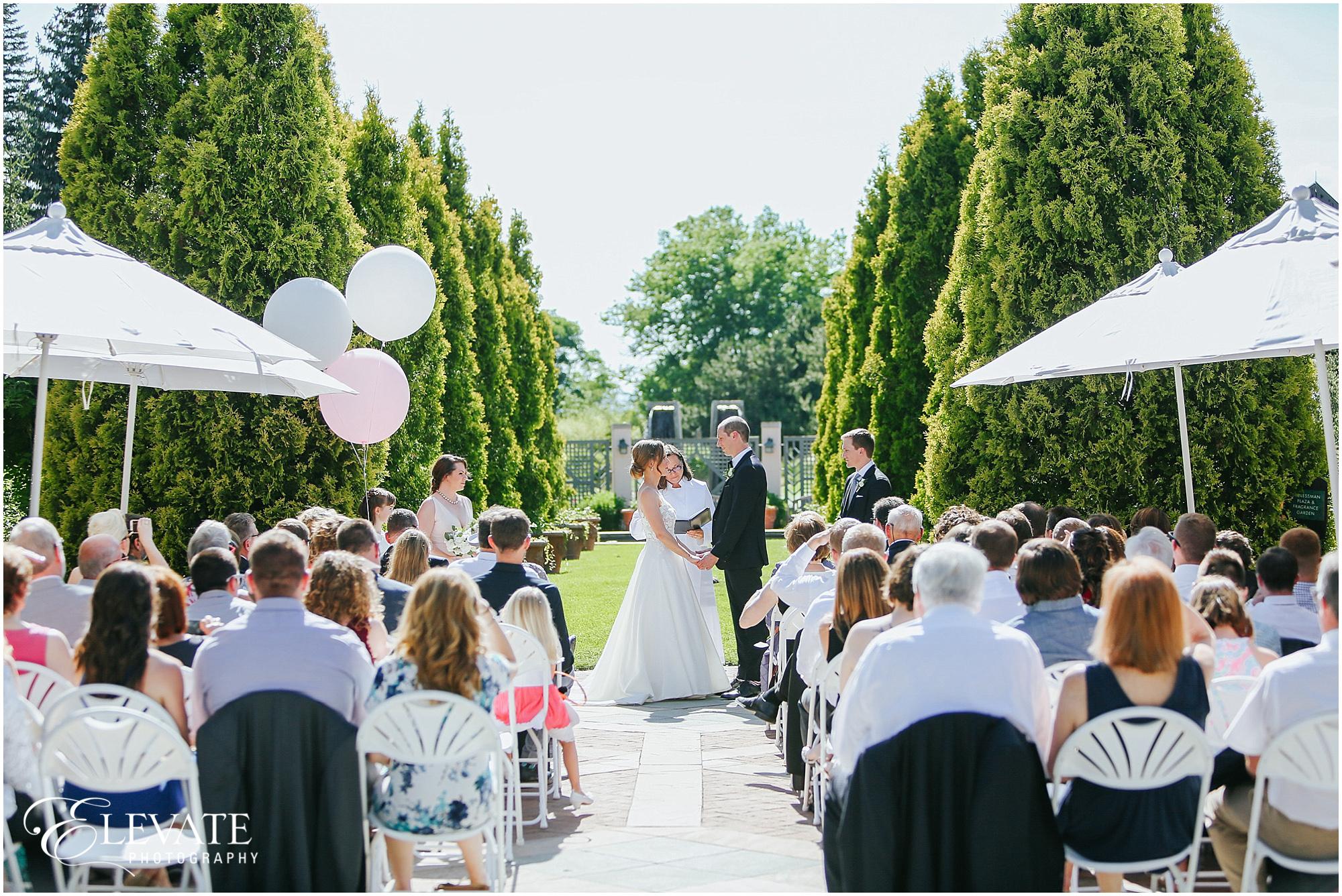 Beau Romance Garden Wedding Ceremony