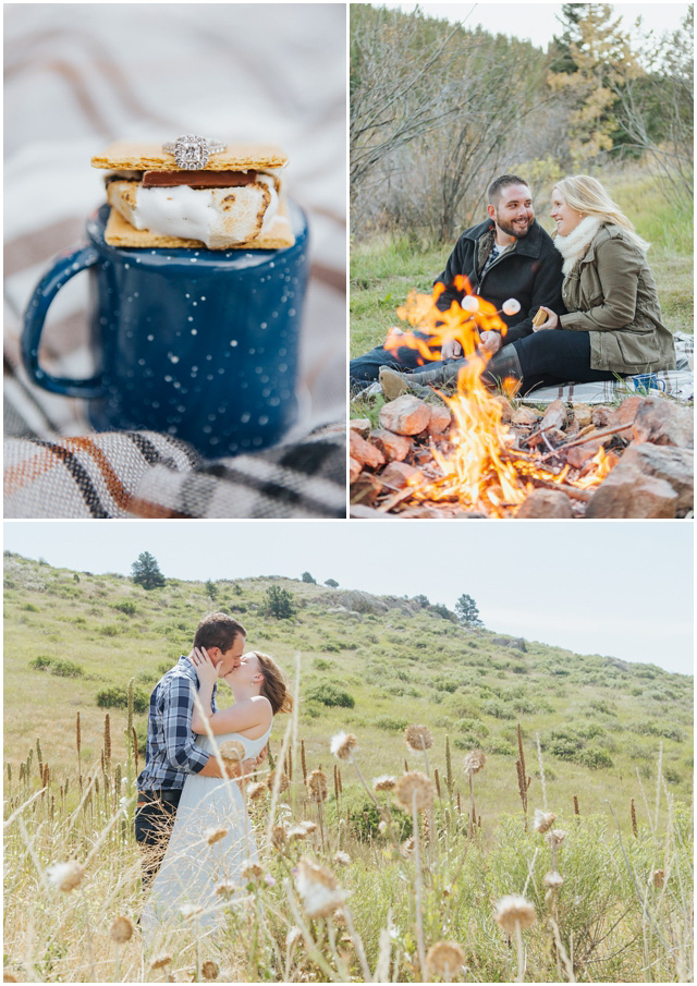 smores engagement fire