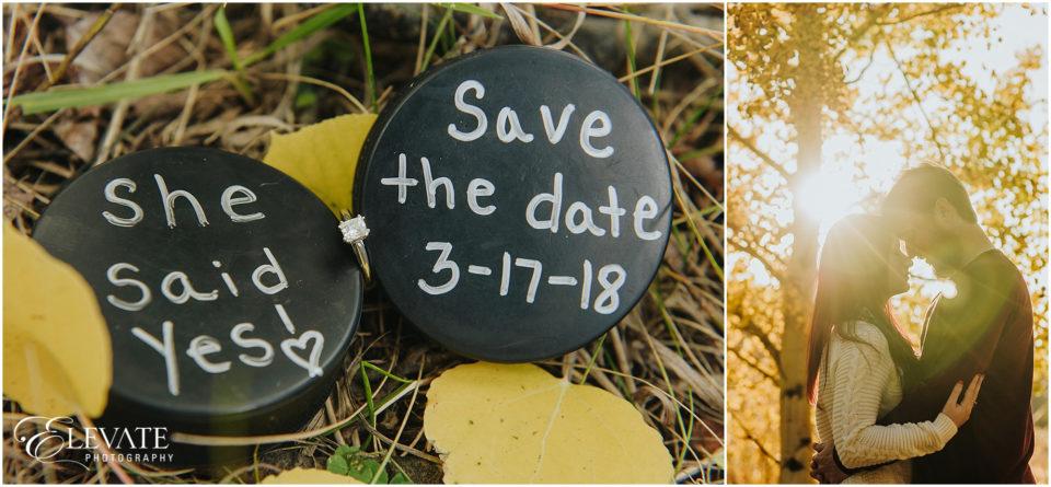 Evergreen Fall Engagement Photos