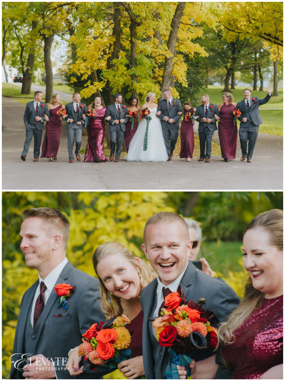 wedding party burgundy dresses