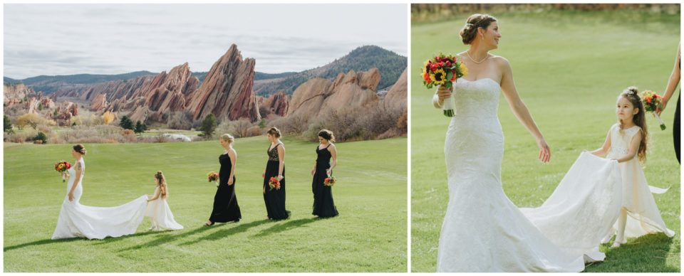 bridesmaids black dresses