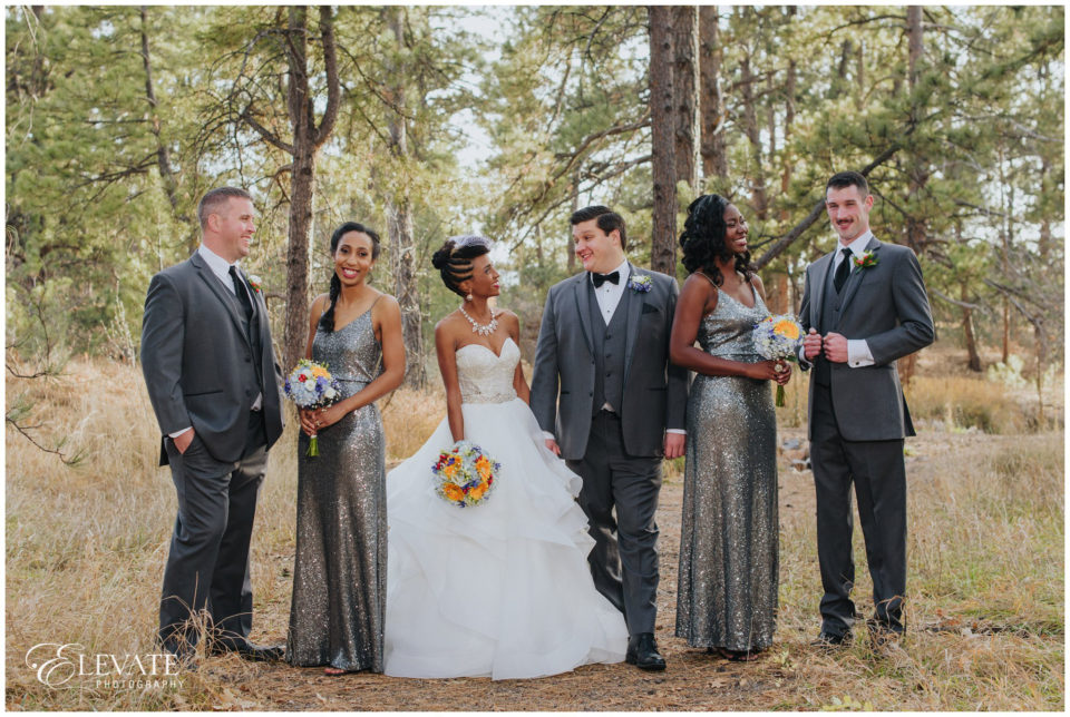 wedding party woods
