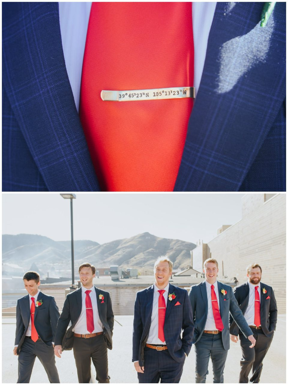 custom groom tie