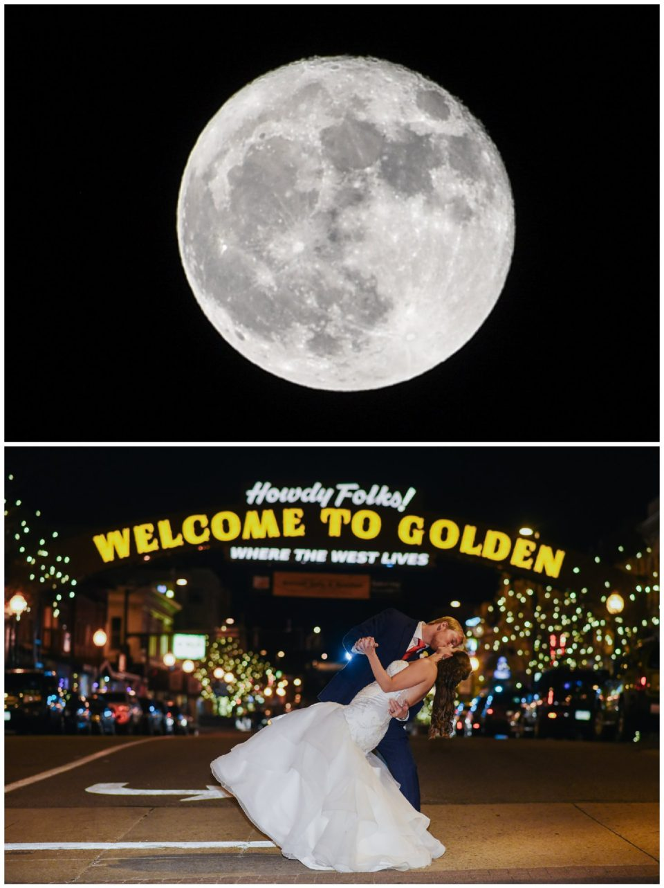 full moon golden sign