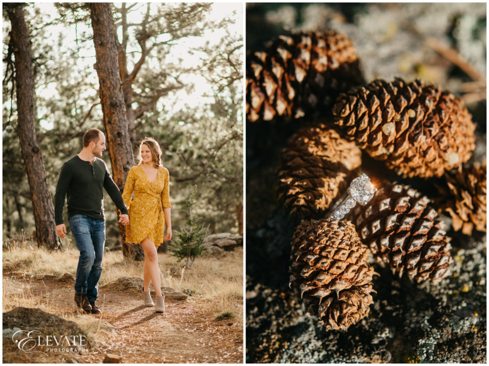 engagement ring pinecone