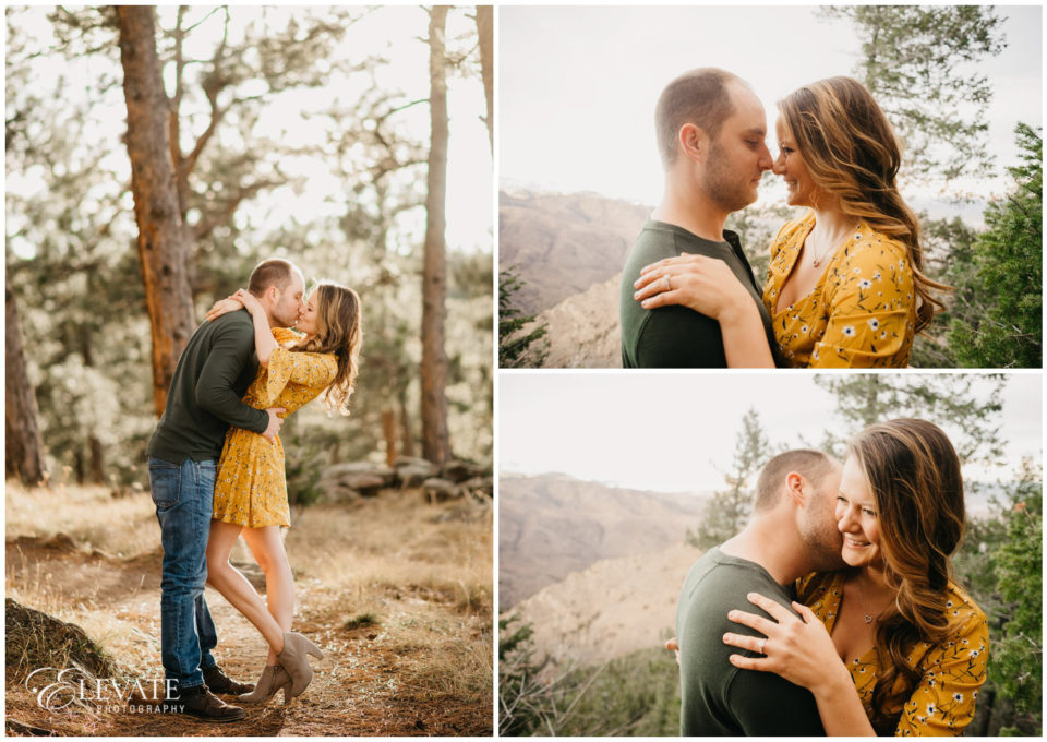 available light woods sunset kiss
