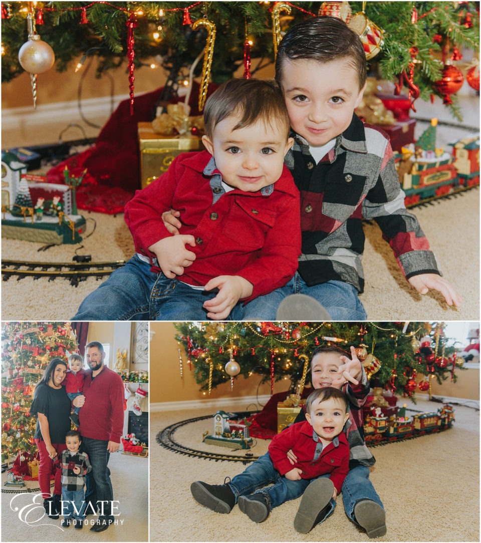 One Year Old Birthday and Christmas photos