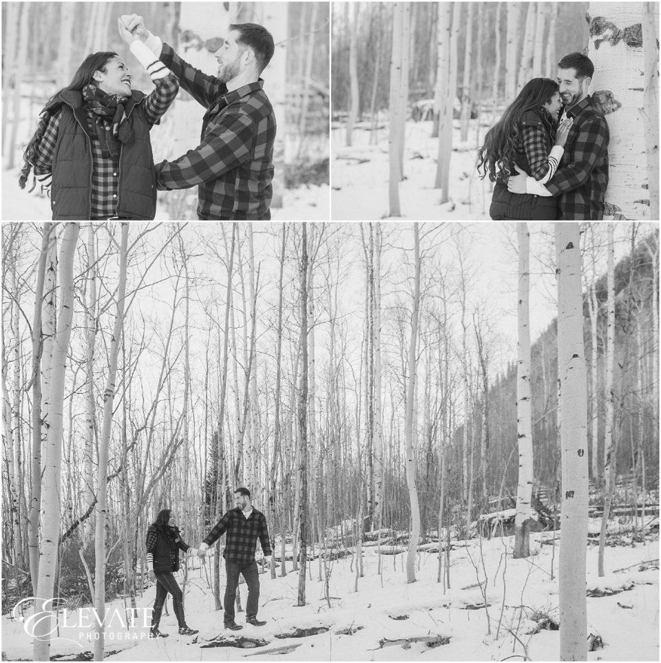 Vail Winter Engagement Photos